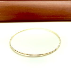 10K SOLID Gold Bangle 2mm Large XL Melanie Auld